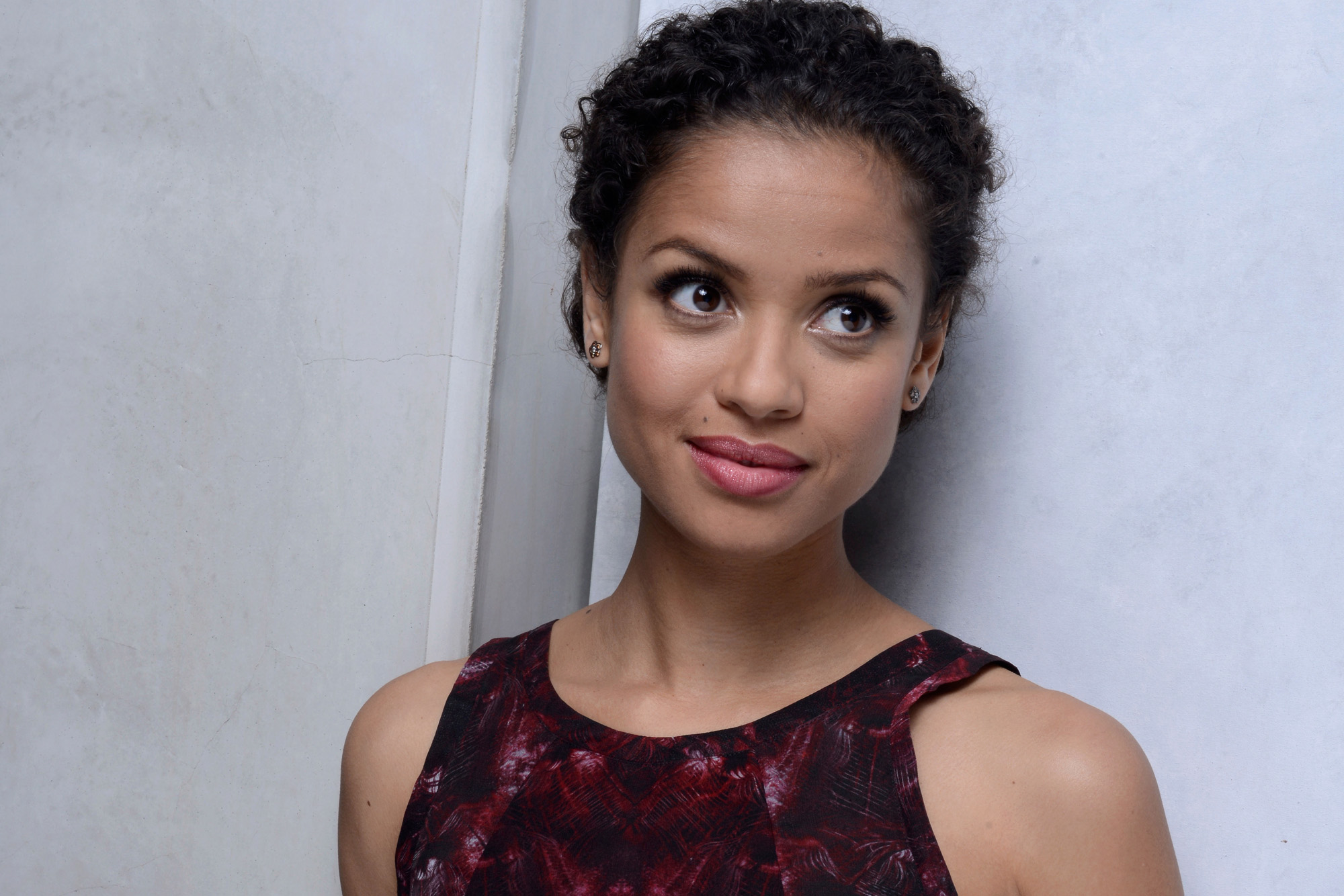 TORONTO, ON - SEPTEMBER 09:  Actress Gugu Mbatha Raw of 'Belle' poses at the Guess Portrait Studio during 2013 Toronto International Film Festival on September 9, 2013 in Toronto, Canada.  (Photo by Jeff Vespa/WireImage)