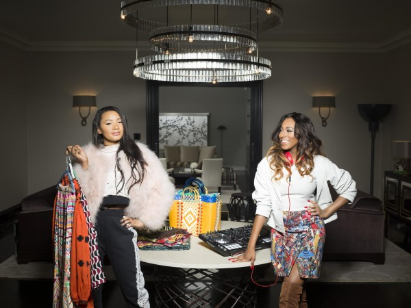 L-R Sisters Temi and Cuppy Otedola