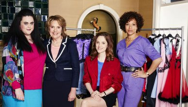 BRIEF ENCOUNTERS  Pictured: SHARON ROONEY as Dawn, PENELOPE WILTON as Pauline,SOPHIE RUNDLE as Steph and ANGELA GRIFFIN as Nita.  This image is the copyright of ITV and is for one use only in relation to Brief Encounters.