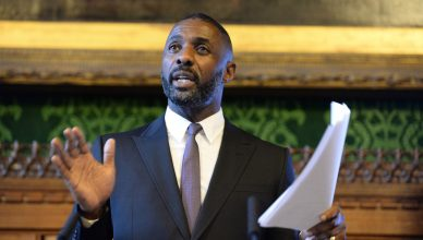 Idris Elba speaking at Channel 4's 360 diversity event at Parliament today, Monday 18th January 2016.